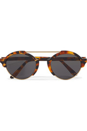 Illesteva Milan III round-frame acetate and gold-tone sunglasses