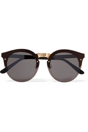 Illesteva Palermo round-frame gold-tone and acetate sunglasses