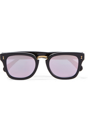 Illesteva Positano square-frame acetate mirrored sunglasses