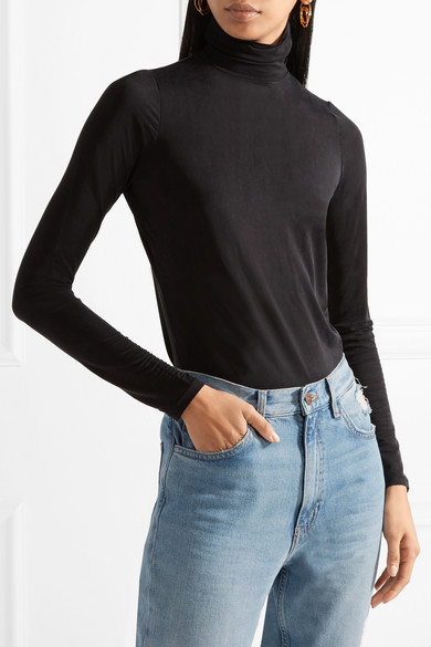 Tuxe Bodywear The Rebel Body aus Stretch-Jersey mit Rollkragen