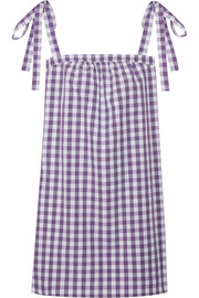 Three J NYC Stella gingham cotton-poplin nightdress