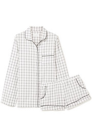 Three J NYC Josephine checked cotton-flannel pajamas