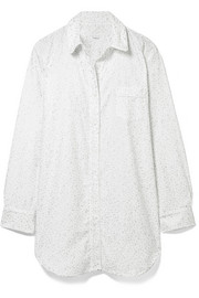 Grace printed cotton-flannel nightdress