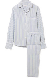 Etoile striped cotton-flannel pajama set