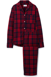 Etoile checked cotton-flannel pajama set