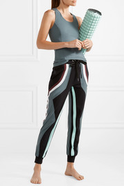 Pana color-block stretch track pants