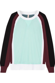 Loa color-block stretch sweatshirt