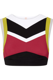 Lani color-block stretch sports bra