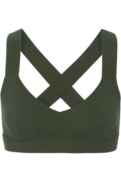 No Ka'Oi - Ola Reversible Stretch Sports Bra - Army green