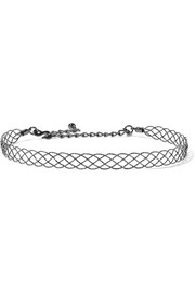 Kenneth Jay Lane Hammered gunmetal-plated choker