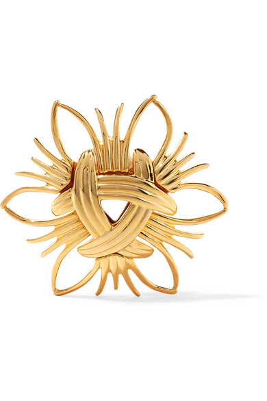 Kenneth Jay Lane - Gold-tone Brooch - one size