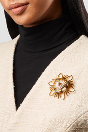Kenneth Jay Lane Gold-tone brooch