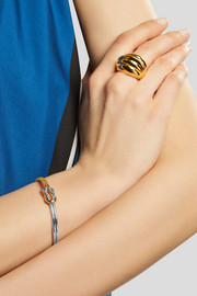 Kenneth Jay Lane Gold and rhodium-plated cuff