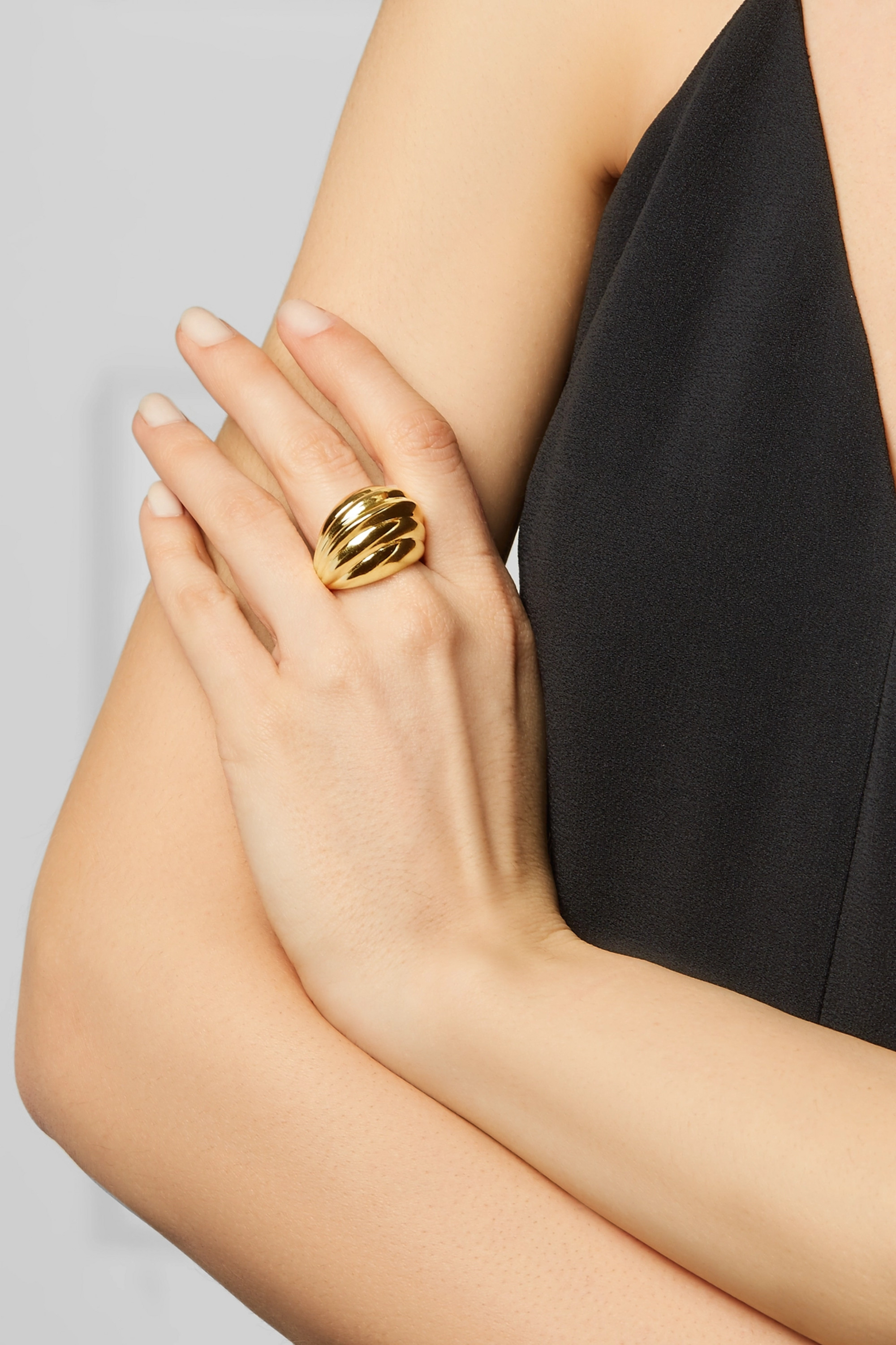 Kenneth Jay Lane Gold-plated ring