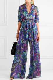 Matthew Williamson Kantuna Valley printed silk-chiffon jumpsuit