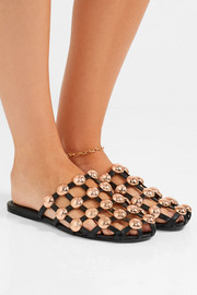 Amelia studded leather slippers