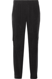 Hamtana silk crepe de chine tapered pants