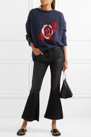 Markus Lupfer Intarsia mohair-blend sweater