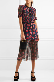 Markus Lupfer Susie floral-print silk crepe de chine and chiffon midi dress