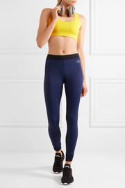 Monreal London Athlete striped stretch-knit leggings