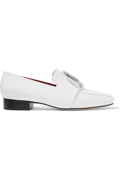 DORATEYMUR - Harput Embellished Patent-leather Loafers - White