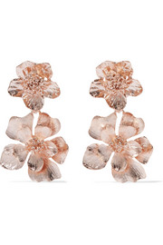 Rose gold-plated clip earrings
