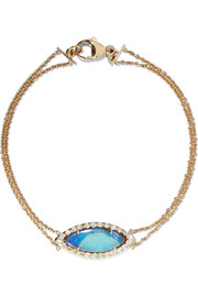 Kimberly McDonald 18-karat gold, opal and diamond bracelet