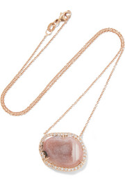 Kimberly McDonald 18-karat rose gold, geode and diamond necklace
