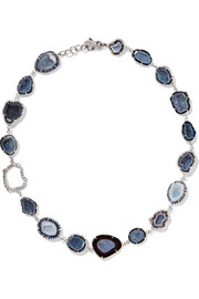 Kimberly McDonald 18-karat white gold multi-stone necklace