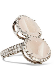 Kimberly McDonald 18-karat blackened white gold, geode and diamond ring