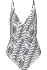 Vix Brushed Madalena wrap-effect printed swimsuit