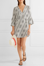 Vix Fany printed voile tunic