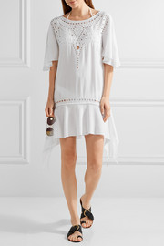 Vix Gabi cutout embroidered voile kaftan