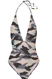 Diane camouflage-print swimsuit
