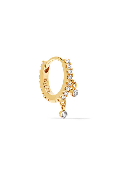 Maria Tash - 18-karat Gold Diamond Hoop Earring