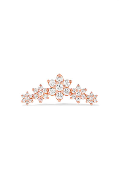 Maria Tash - Flower Garland 18-karat Rose Gold Diamond Earring