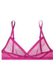 Sculpted stretch-tulle and satin-jersey soft-cup bra