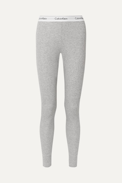 Modern Cotton Ribbed Stretch Modal Blend Leggings by Calvin Klein Underwear