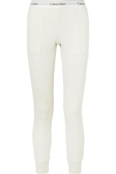 Buy Cheap Fast Delivery Modern Cotton-blend Jersey Track Pants - Light gray Calvin Klein Underwear New Release New Arrival Sale Online ziPtQd4vs