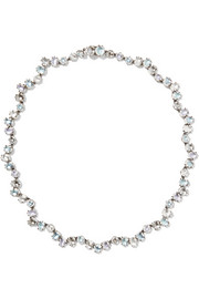 Caterina Garland Rivière rhodium-dipped quartz necklace