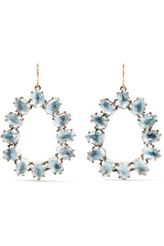 Caterina small rhodium-dipped quartz earrings