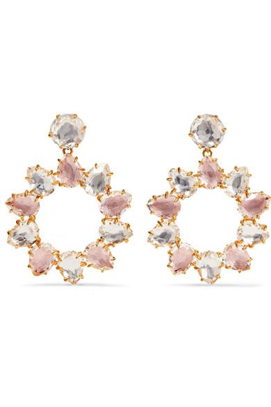 Larkspur & Hawk Caterina Gold-dipped Quartz Earrings YAi1acHNAN