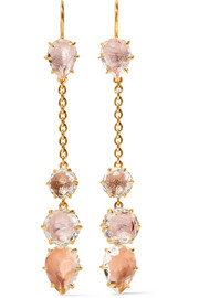 Caterina gold-dipped quartz earrings