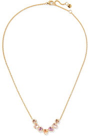 Caterina gold-dipped quartz necklace