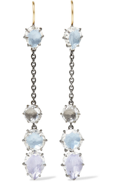 Larkspur & Hawk Caterina Rhodium-dipped Quartz Earrings - Silver 66j0vYrF5U