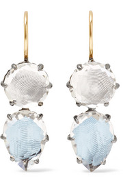 Caterina rhodium-dipped quartz earrings