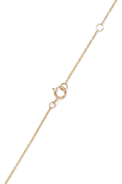 I+I Crescent Moon 18-karat gold diamond necklace