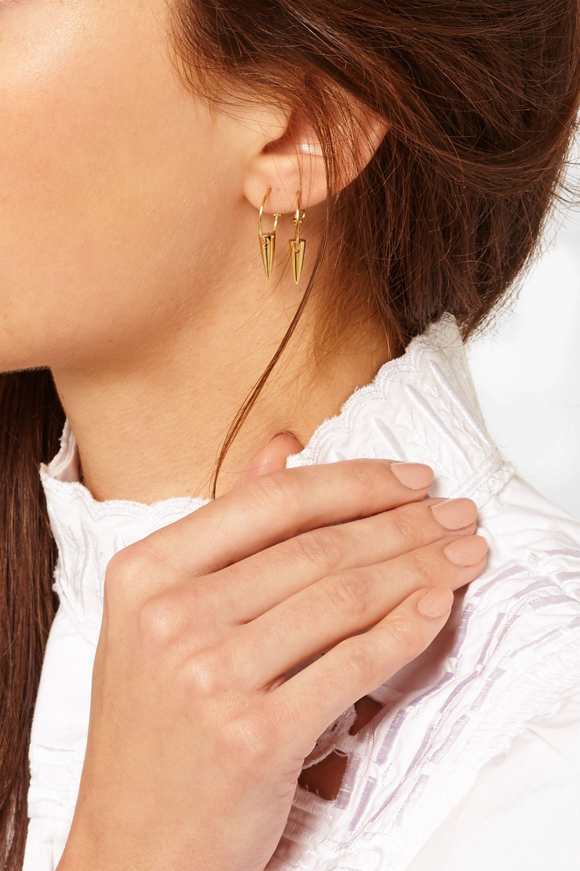 I+I Tusk gold-plated earrings
