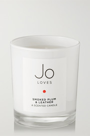 Smoked Plum & Leather scented candle, 185g