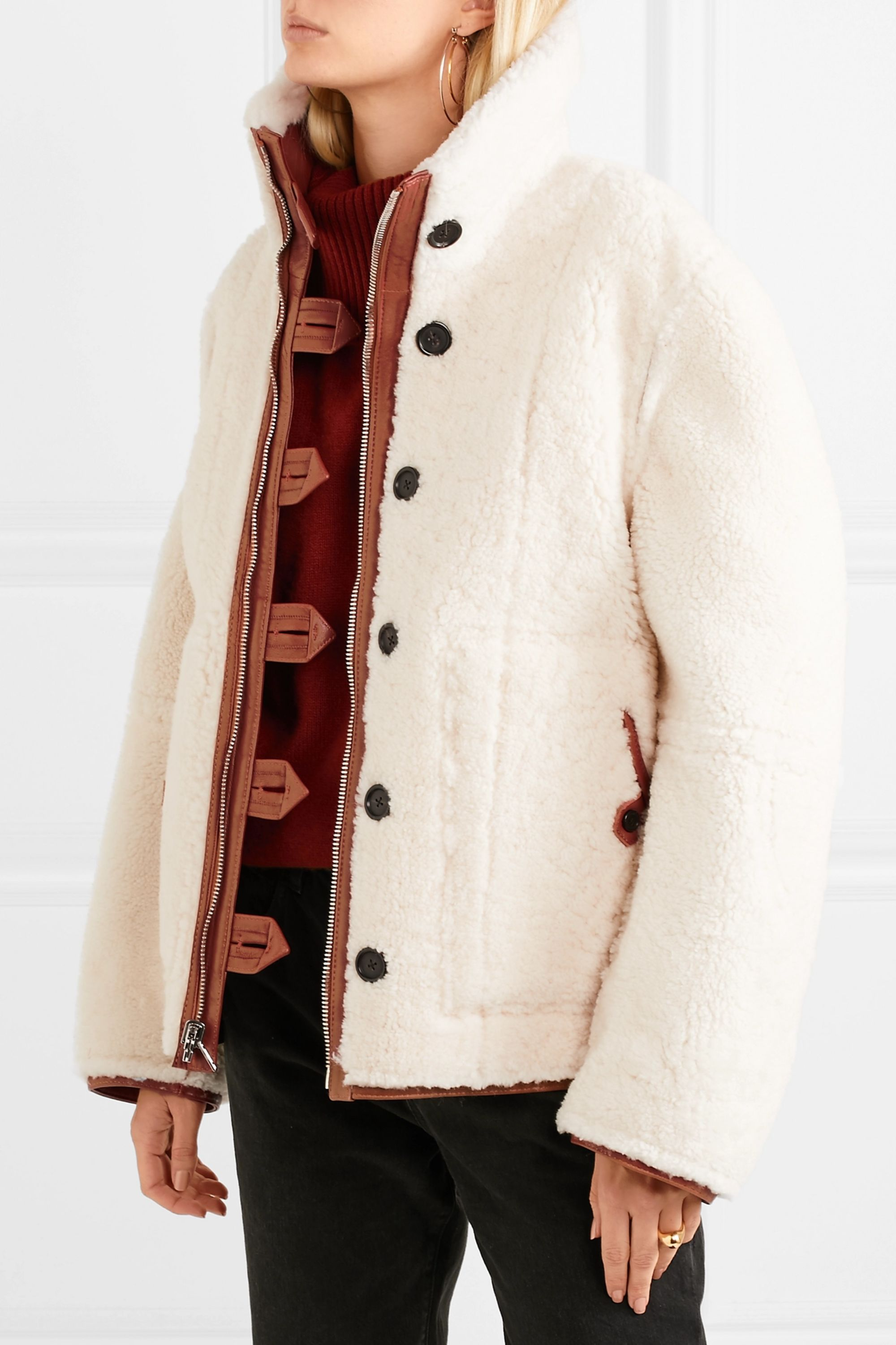 Joseph Witham reversible oversized shearling jacket